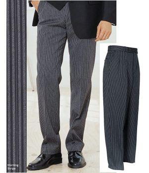 Pantalon de cérémonie Homme, à rayures, Laine et Polyester, à pinces