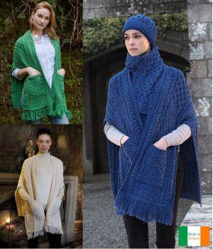 Châle Irlandais, pour femme, 100 % laine Merinos