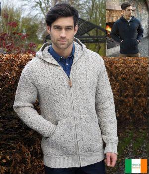 Veste Irlandaise pour Homme, Avec capuche, Femeture par Zip