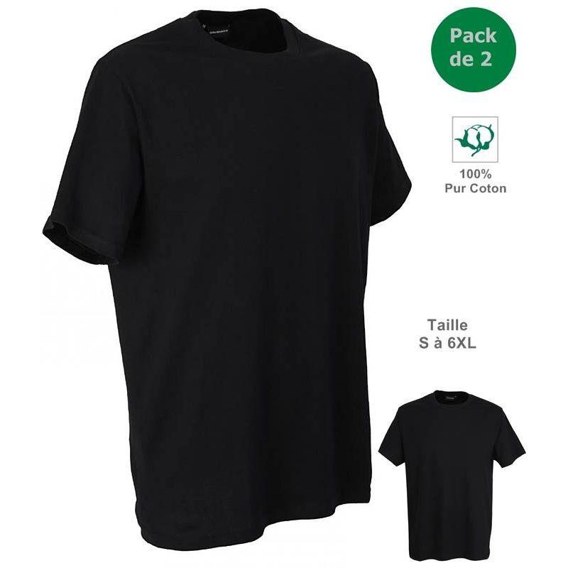 tricot de corps noir homme 100 coton tee shirt manches. Black Bedroom Furniture Sets. Home Design Ideas