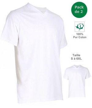 tricot de corps blanc homme 100 coton col v tee shirt. Black Bedroom Furniture Sets. Home Design Ideas
