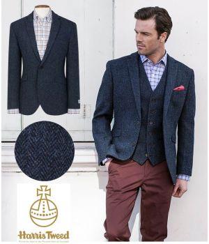 Veste Homme Harris Tweed, Coupe ajustée, Deux boutons, Pure Laine vierge