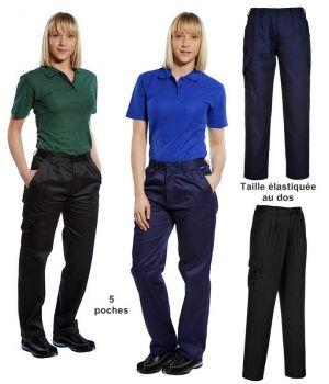 Pantalon de Travail Femme, Confortable et Stylé, 5 poches
