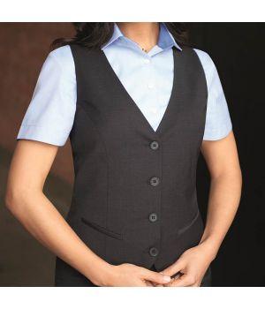 Gilet femme, 4 boutons, pour un look impeccable, résistant et peu froissable