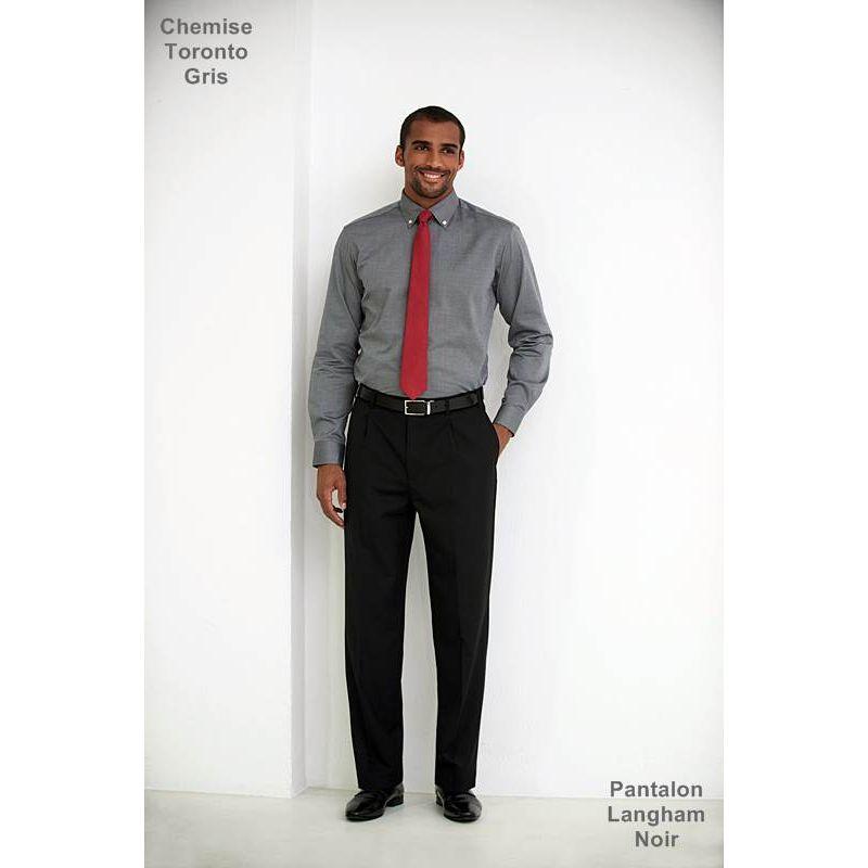 1587832603 Pantalon Homme, à pinces, Coupe classique, résistance, fluidité et ...