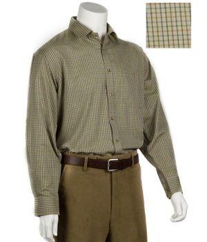 Chemise à carreaux homme manches longues, Coton et polyester.