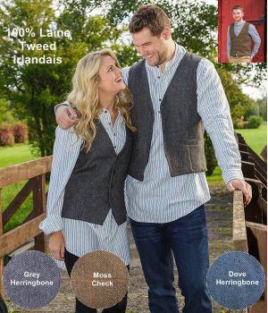 Gilet en Tweed Irlandais, pour Homme ou Femme, Très élégant.