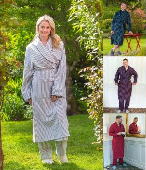 Robe de chambre en 100% Flanelle de Coton, Merveilleusement Douce