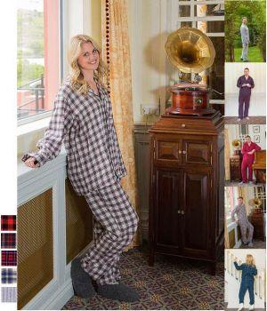 Pyjama Homme et Femme, Coton Flanelle très doux Peigné 2 faces.