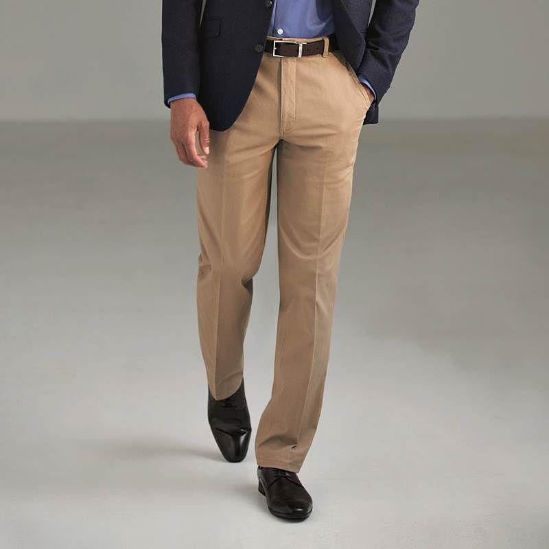 prix plancher les ventes en gros couleur attrayante Pantalon Chino Homme, Coupe classique, Ceinture Extensible