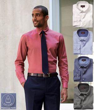 Chemise Homme, Coupe Ajustée, Manches Longues, Royal Oxford