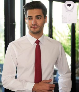 Chemise Blanche Homme, Coupe Slim, Manches Longues