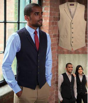Gilet Chino Homme, 5 boutons, 2 poches Devant, Coton et Stretch Confort