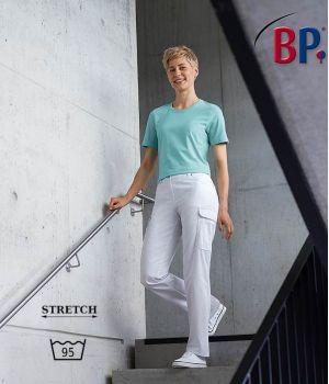Pantalon Blanc Jean Femme 5 poches, Surpiqûres, Confort Stretch