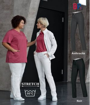 Pantalon Chino femme, Coupe seyante, Super extensible, 4 poches