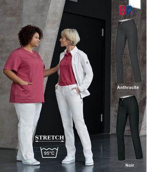 Pantalon Chino femme, Coupe seyante, Super extensible, 4 poches