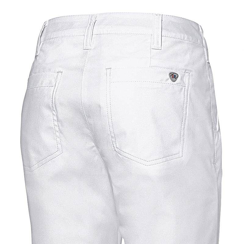 Pantalon Chino Femme, Blanc, 100% Coton, Coupe Seyante