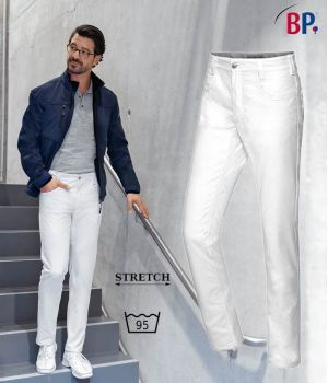 Pantalon Jean 5 Poches Homme, Tissu Bi-Stretch Liberté de Mouvement