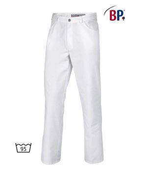 Pantalon Blanc Homme et Femme, Coupe Jean, Polyester Coton