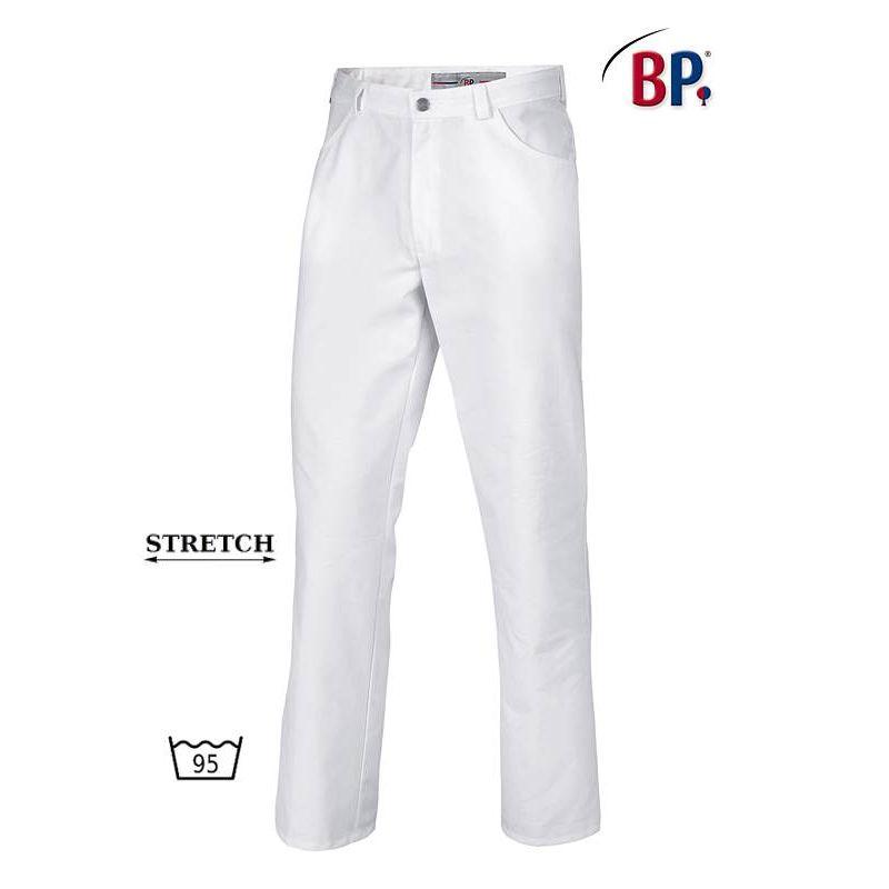 Homme FemmeTissu Jean StretchPolycoton Blanc Pantalon Comfortec 8O0kwnPX