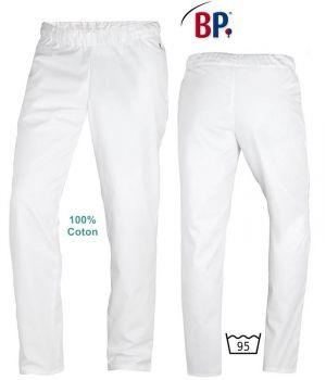 Pantalon Blanc Coton, Femme et Homme, Entretien Facile, Peut Bouillir