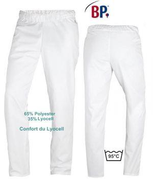 Pantalon Blanc Femme et Homme, Taille Elastiquée, Confort du Lyocell