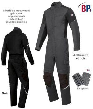 Combinaison de Travail, Col Officier, Boutons pression, Taille Extensible au Dos