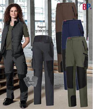 Pantalon de Travail Femme Super Stretch, Coupe Seyante et Ergonomique