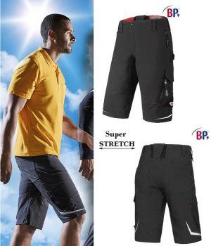 Short de Travail Super Stretch, Coupe Seyante et Ergonomique, Gris charbon
