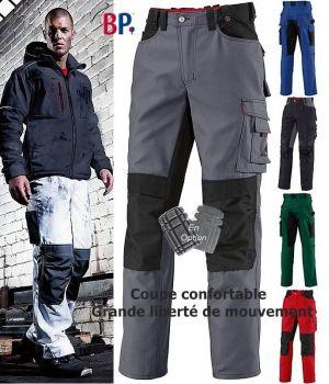 Pantalon de travail, Grande liberté de mouvement, Tissu résistant, bicolore