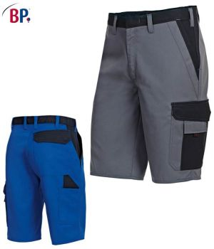 Short de travail 2 poches latérales, poche cuisse avec poche portable et poche crayon plaquées, double poche mètre