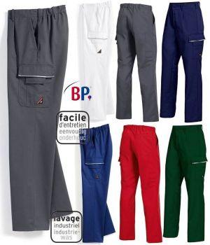 Pantalon de Travail, Elastiqué au dos, Résistant et Facile d'entretien