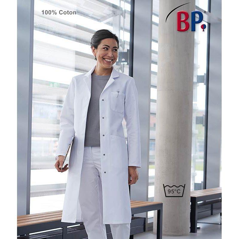 Blouse m/édicale Femme Manches Longues 100/% Coton