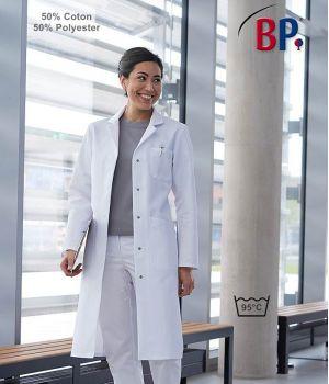 Blouse Blanche Femme Manches Longues, Tissu ComfortLine
