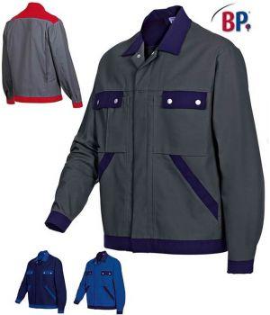 Blouson travail bicolore, excellente tenue, entretien facile, polyester coton