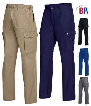 Pantalon de Travail, Elastique au dos, Résistant, Facile d'entretien, 5 Poches