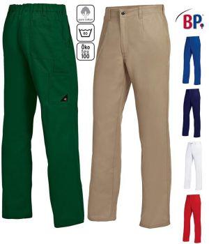 Pantalon de Travail homme, Grand Teint, 100% Coton, Elastique au Dos