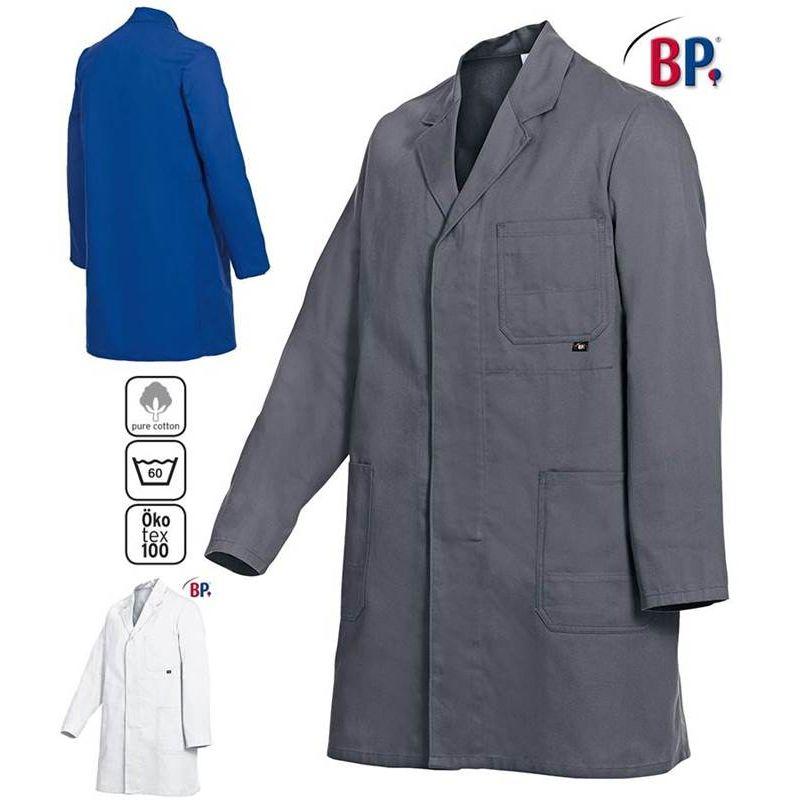 V/êtement de Travail Blouse Blouse Travail Bouton 100/% Coton Bleu