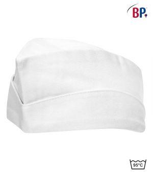 Calot de cuisine Blanc, Coton, peut bouillir, réglable par pression, Le pack de 2
