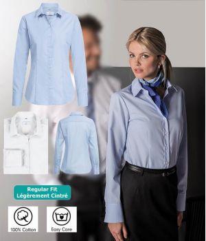 Chemisier Femme Manches Longues, 100% Coton, Entretien Facile