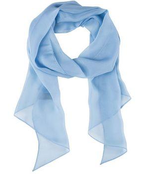 Echarpe longue, lavable, bleu ciel, 100% polyester