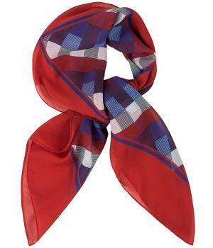 f0fc1e6c377 Foulard carré femme carreaux rouge et gris