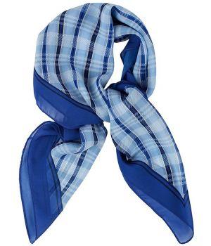 880e626dc04 Foulard Carré Femme Carreaux Bleu