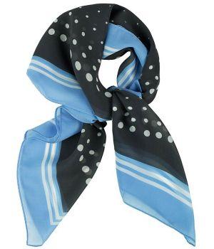 a57d73c4ba5 Foulard Carré Femme Bleu et Gris à Pois
