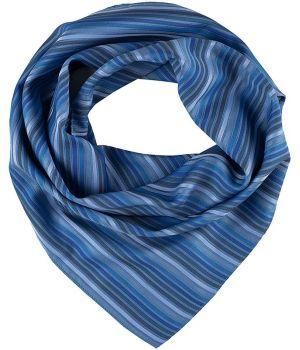 Foulard Femme, Rayures bleues, Lavable