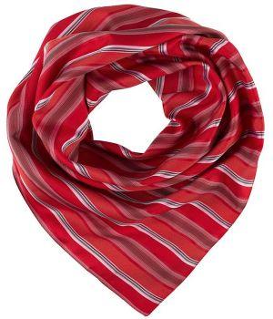 Foulard Femme Rayures rouge et gris, Lavable en machine