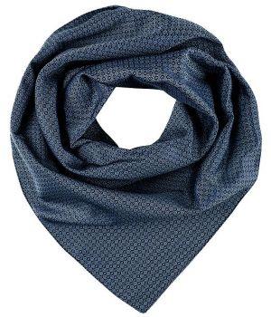 Foulard, Écharpe imprimée, Bleu à motifs, 70 cm x 70 cm