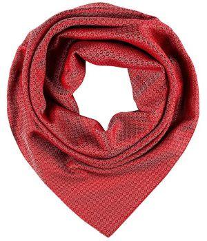 Foulard, Écharpe imprimée, Rouge à motifs, 70 cm x 70 cm