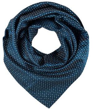 Foulard, Écharpe imprimée, Marine et Bleu clair, 70 cm x 70 cm