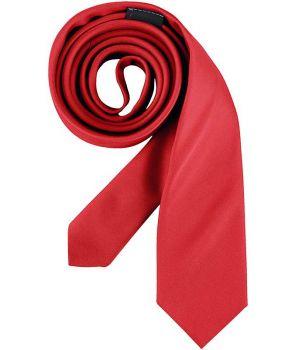 Cravate étroite, couleur rouge, lavable